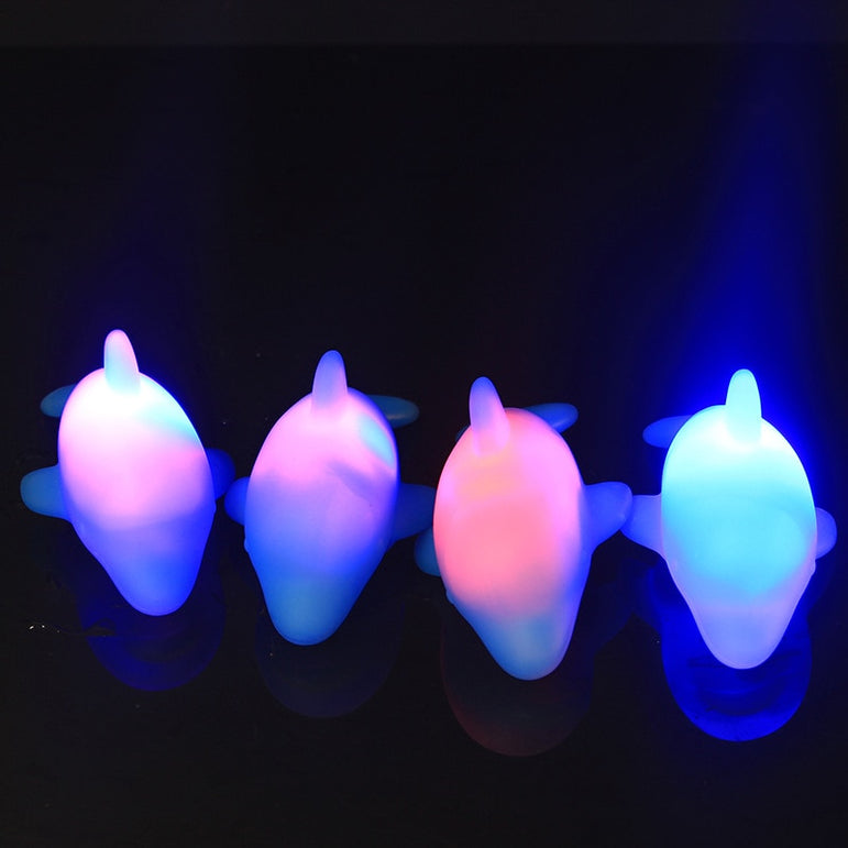 4Pcs Light Up Baby Bath Toys Dolphin