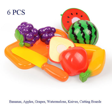 Toy Cutting Fruit Vegetables Kitchen Role Play