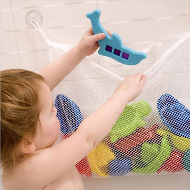 Bath Tub Suction Cup Mesh Bag & Organizer Net
