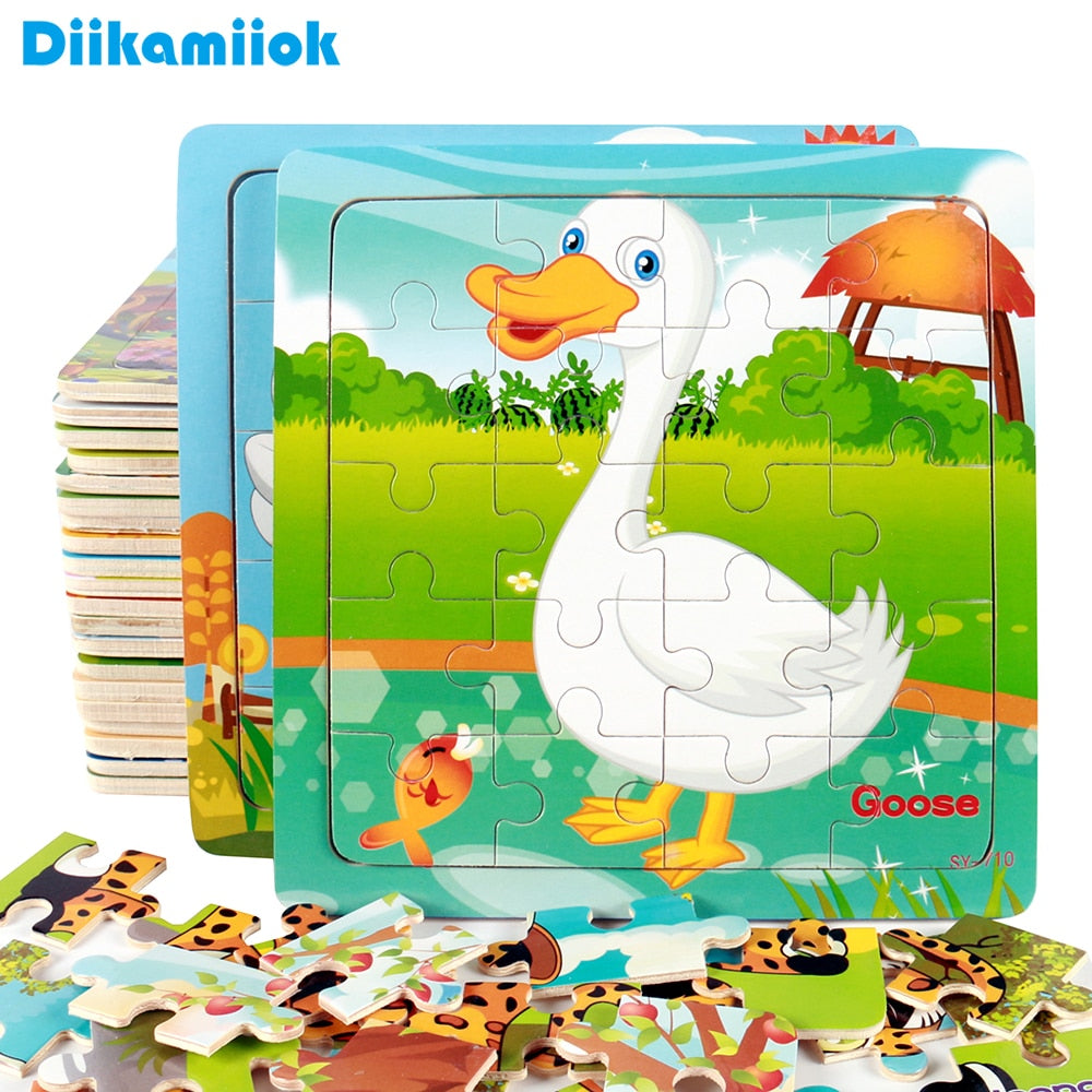 Wooden Jigsaw Puzzle for Kids