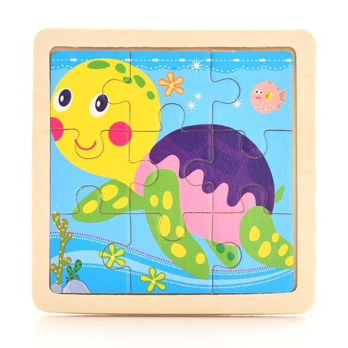 Wooden Jigsaw Puzzles for Kids