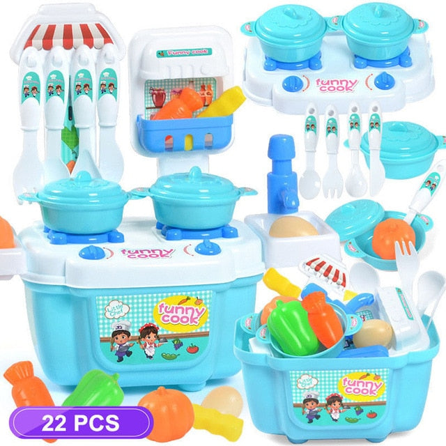 Toy Kitchen Cooking Set