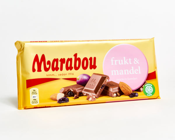 Marabou Fruit & Almond Chocolate Bar