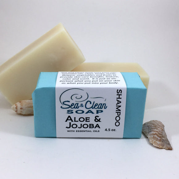 Aloe and Jojoba Shampoo Bar SEA and CLEAN Soap