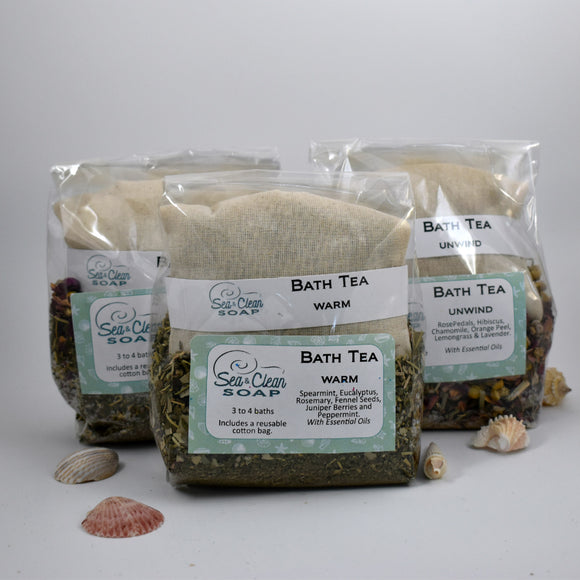 Natural Herb Bath Tea / Sea and Clean Soap