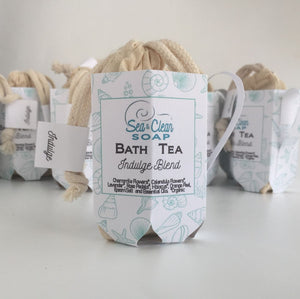 Bath Tea in a Tea Cup for Party Favor Thank you Gift SEA and CLEAN Soap
