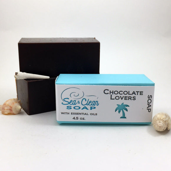 Soap make with real cocoa and cocoa butter. It has a beautiful aroma of chocolate. You might want to just take a bite! This is a great bars for ally skin types, especially dry skin.
