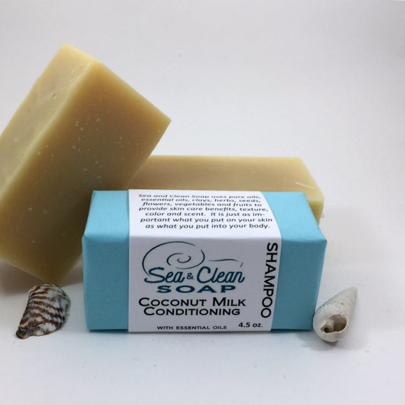 Coconut Milk Conditioning Shampoo Bar