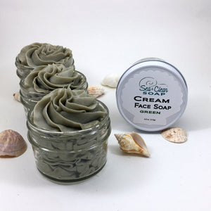 Cream Face Soap - Green