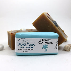 Honey Oatmeal Soap Bar with essentail oils