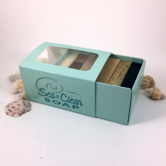 Soap Bar Samples, 7 Mini Unscented Bars in a Gift Box