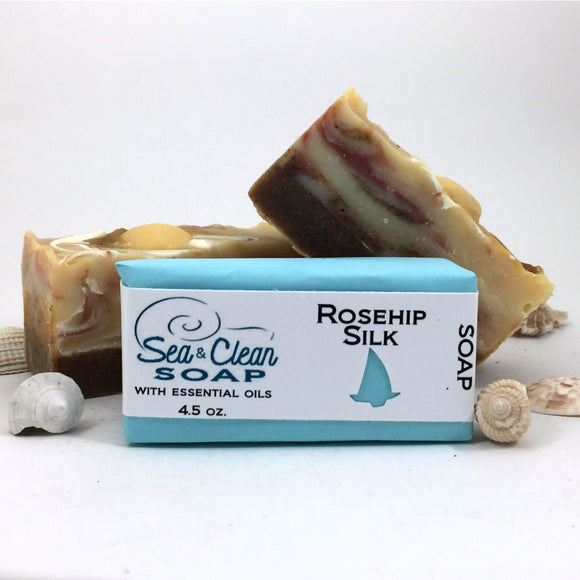 Rosehip Silk Soap bar is full of oils and butters that your skin will love.