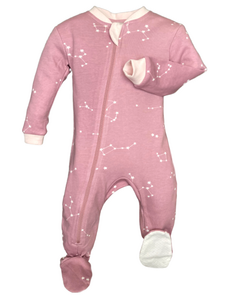ZippyJamz- Galaxy Love- Pink - 3-6M ZippyJamz Malarkey Kids