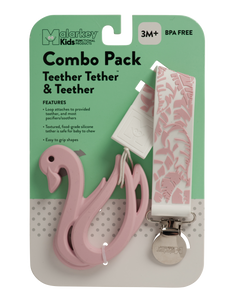 Teether Tether & Teether - Feather & Swan Teether Tether & Teether Malarkey Kids
