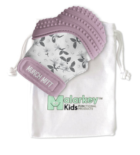 Munch Mitt - Lilac Bloom Munch Mitt Malarkey Kids
