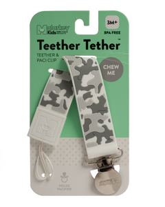 TEETHER TETHER - GREY CAMO Teether Tether Malarkey Kids