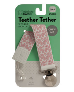 TEETHER TETHER - PINK FLORAL Teether Tether Malarkey Kids