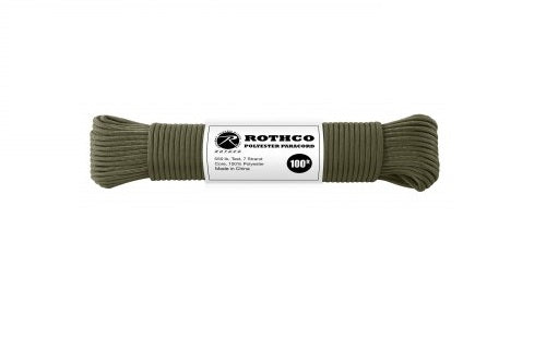 Rothco Polyester Paracord Olive Drab – Solid