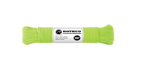 Rothco Polyester Paracord Safety Green – Solid