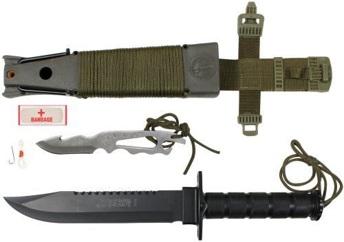Rothco Deluxe Jungle Survival Kit Knife