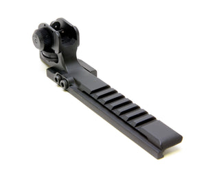 Flat Top Eotech Mount with Integral A2 Adjustable Rear Sight for AR-15 & M16