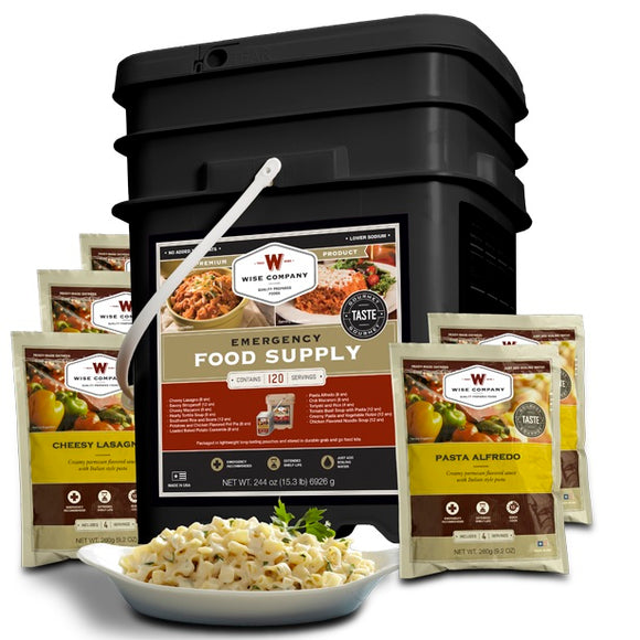 Wise Company - Entree Only Grab-N-Go Bucket - 120 Servings