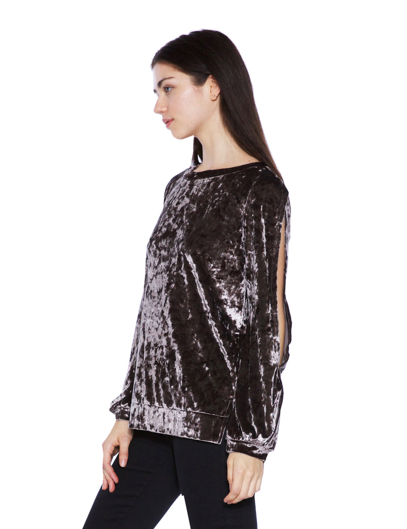 Cut It Out Velvet Top