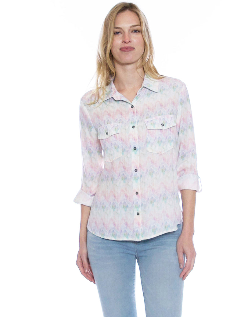 Color Burst Linen Shirt
