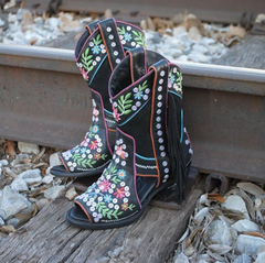Colorful Embroidered Leather Cowgirl Boots - Only at Lane