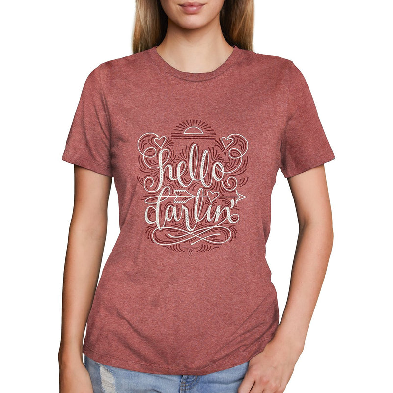 Hello Darlin (Mauve) T-Shirt by Lane Boots