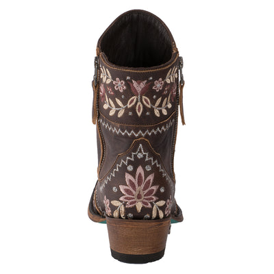 Lane Landrun Gardens Ladies Bootie Western Contemporary Boots Handmade by Lane
