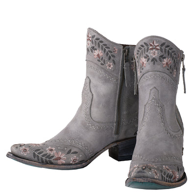 Lane Landrun Gardens Ankle Boot Ladies Bootie Western Contemporary Boots Handmade by Lane