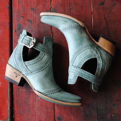 Cahoots Ladies Bootie | Size Dusty Turquoise 5 Lane | Lane Boots