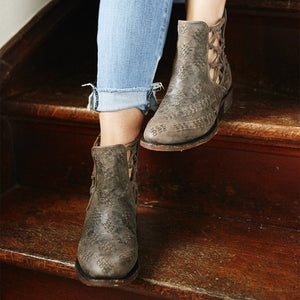 London Secrets Bootie Boot - Brown / 5 - Patina Vie - Lane Boots