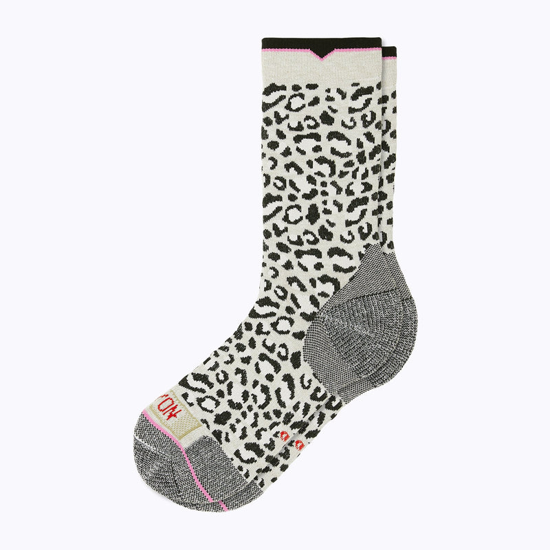 Leopard Women's Crew Socks - Snow by Canyon Socks