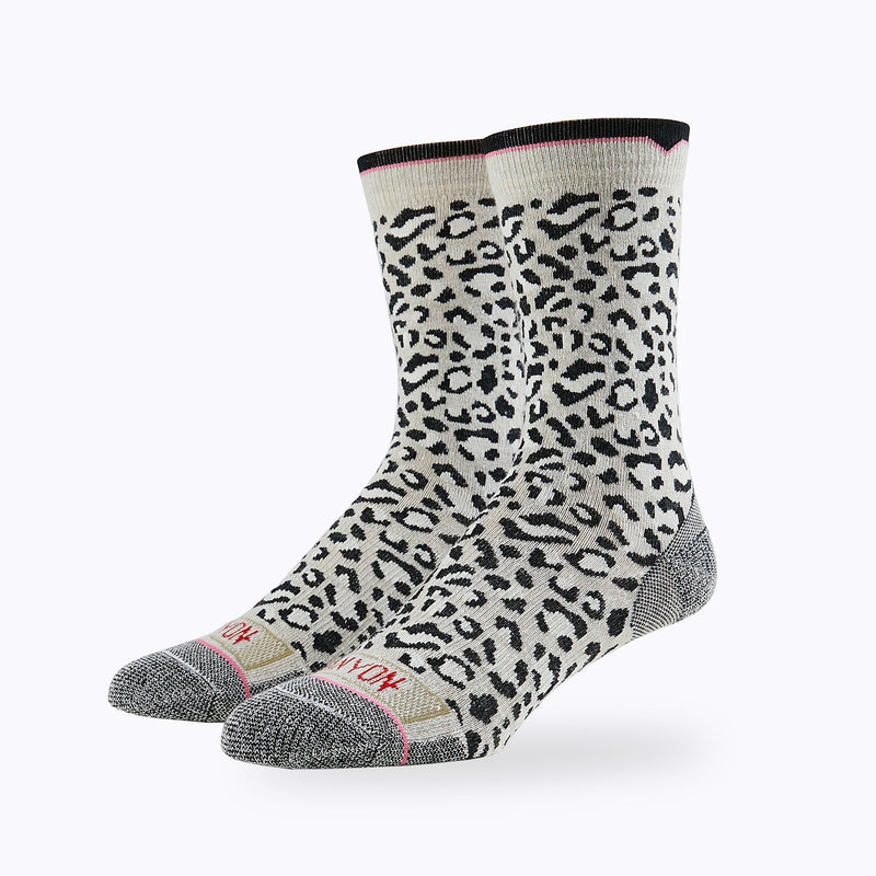 Leopard 3 Pack Women's Crew Socks -  by Canyon Socks