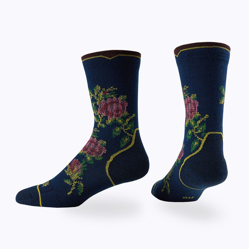 Floral Point 3 Pack Women's Crew Socks -  by Canyon Socks