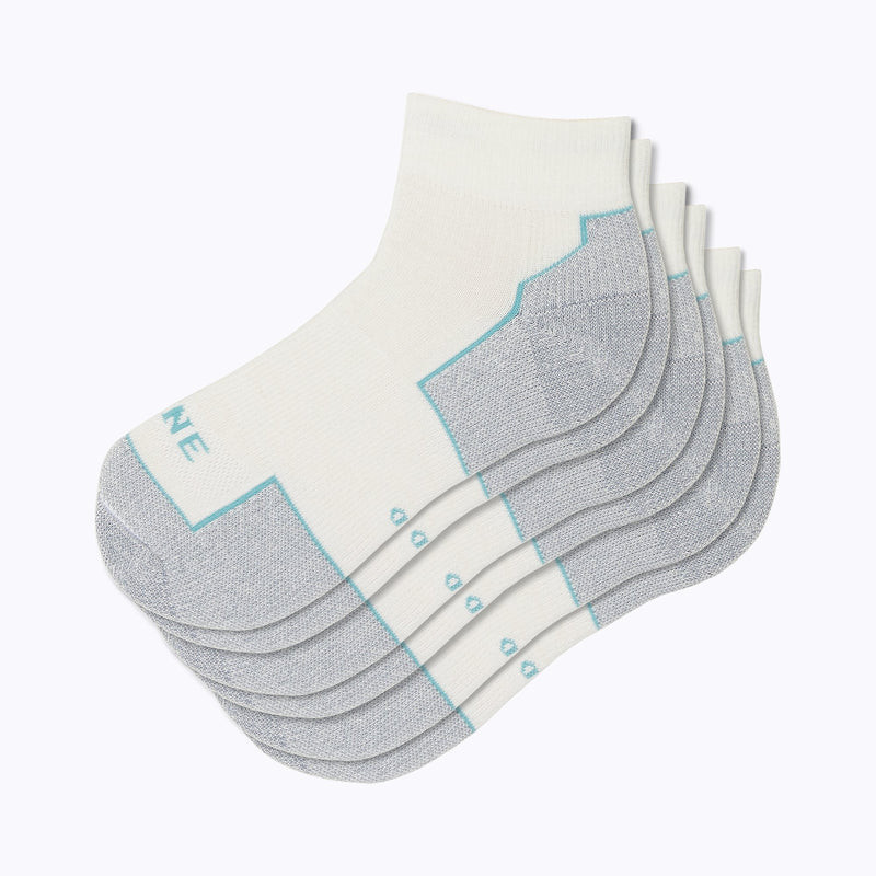 Everyday 3 Pack Women's Qtr Socks - White by Canyon x Lane Socks