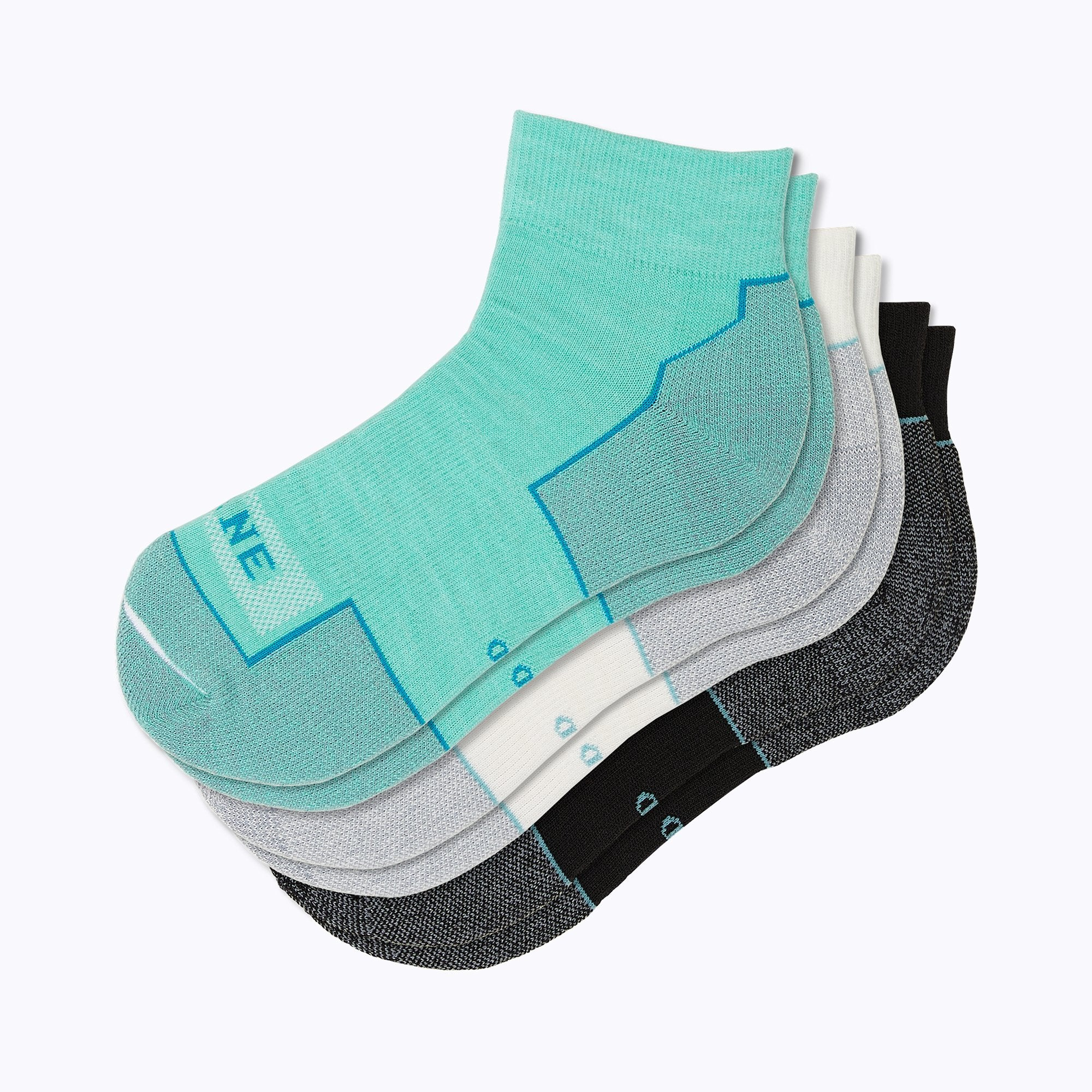 Everyday 3 Pack Mix Women's Qtr Socks -  by Canyon x Lane Socks