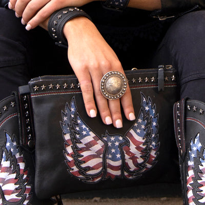 Lane Old Glory Wristlet Bags by Lane Handmade Boots