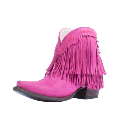Junk Gypsy Spitfire Bright Pink Ladies Bootie Western Contemporary Boots Handmade by Lane