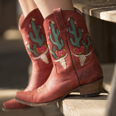 Junk Gypsy Bramble Rose Ladies Boot by Lane Handmade Boots