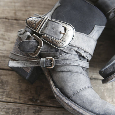 Hwy 237 Ladies Bootie | Size Charcoal Black 5 Junk Gypsy | Lane Boots