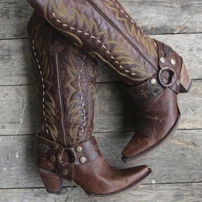 The Vagabond Ladies Boot | Size Distressed Mocha 6 Junk Gypsy | Lane Boots