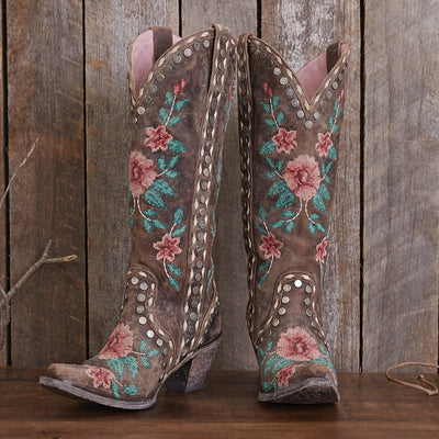 Wild Stitch Ladies Boot | Size Distressed Cognac 5 Junk Gypsy | Lane Boots