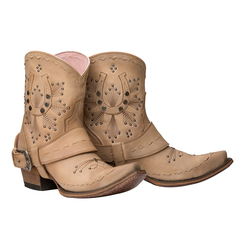 Junk Gypsy Lady Fortuna Shadow Bone Western Cowgirl Ankle Boots