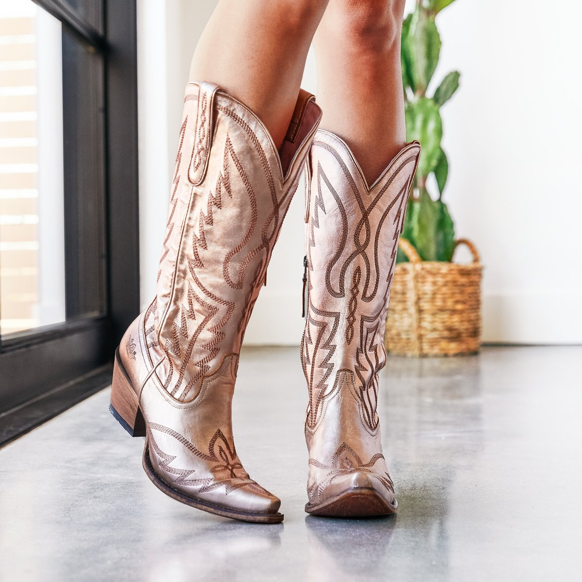 Junk Gypsy Nighthawk Rose Gold Metallic  Womens Western Boots