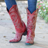Lovesick Stud Boot Ladies Boot | Size Dark Cherry 7 Lane | Lane Boots