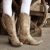 Sweet Paisley Boot Ladies Boot | Size Marbled Taupe 7 Lane | Lane Boots