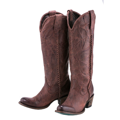 Lane Plain Jane Boot Wine Ladies Boot Western Contemporary Boots Handmade by Lane